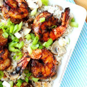 Browned Butter Grilled Shrimp