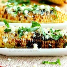 Grilled Corn with Gorgonzola Cheese