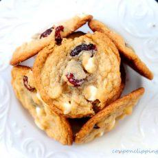 Tart Cherry White Chocolate Cookies