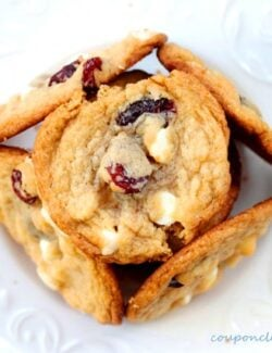 Tart Cherry White Chocolate Cookies