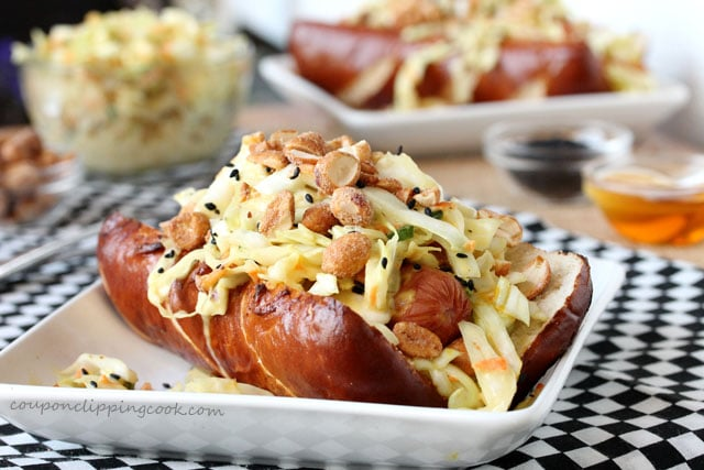 Honey Mustard Slow Dog on plate