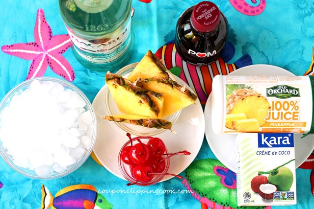 Pomegranate Pina Colada ingredients