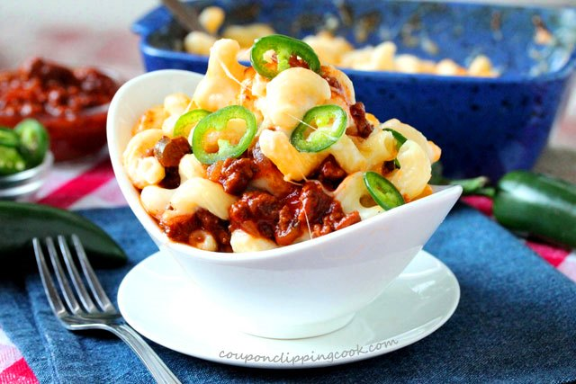 Sloppy Joe Macaroni and Cheese in bowl