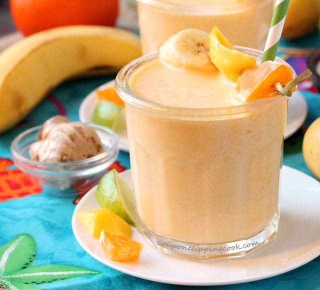 Tropical Tangerine and Ginger Smoothie in a Glass