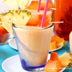 Papaya Pineapple Tea Smoothie