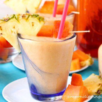 Papaya Pineapple Tea Smoothie