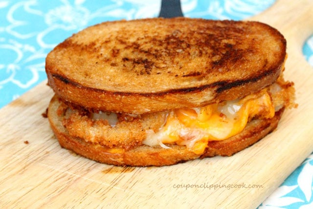 Browned Butter Grilled Cheese Sandwich with Onion Rings