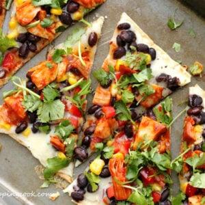 Barbecue Turkey Flatbread Pizza