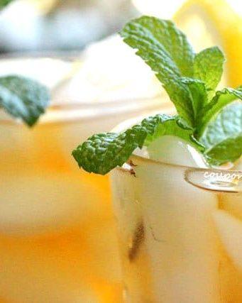 Lemon, Mint and Orange Iced Tea