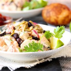 Chipotle Lime Potato Salad in Bowl