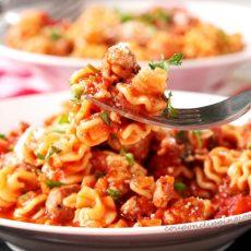 Radiatore Pasta and Sausage