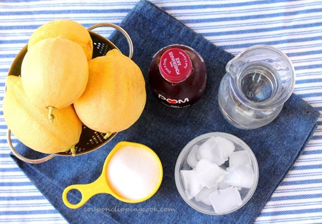 Pink Lemonade with Pomegranate Juice ingredients