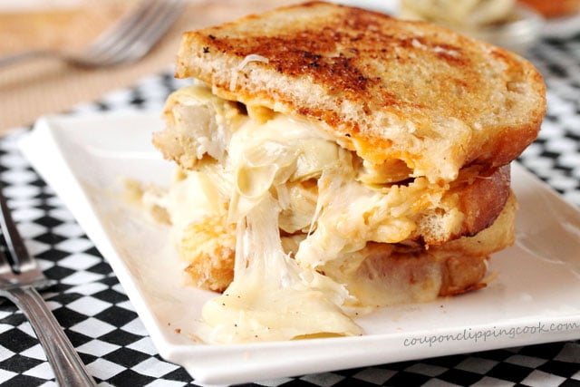 Artichoke Heart and Gouda Grilled Cheese