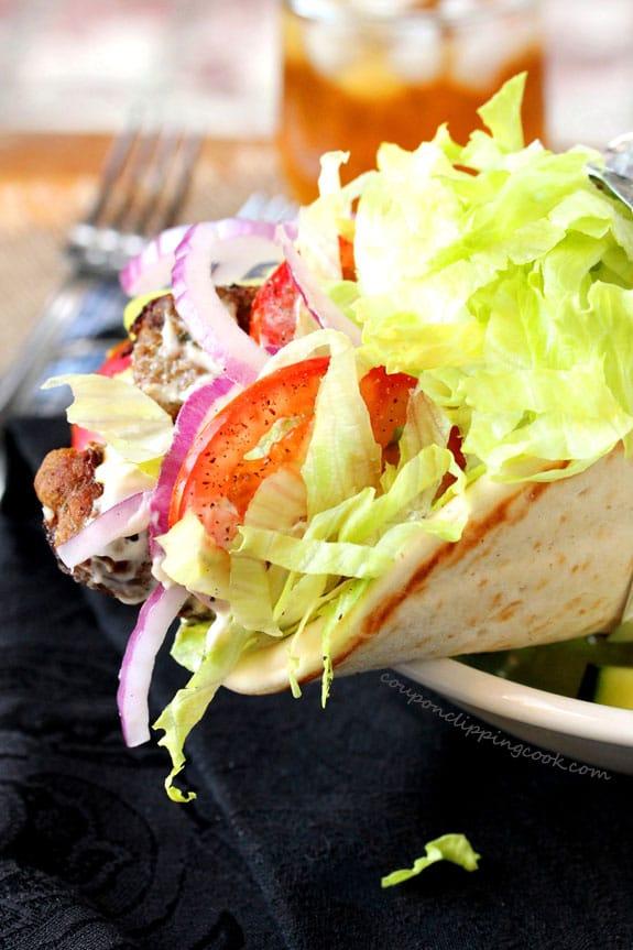 Ground Turkey Pita Sandwich