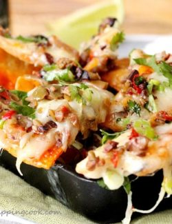 Brie and Olive Tapenade Nachos