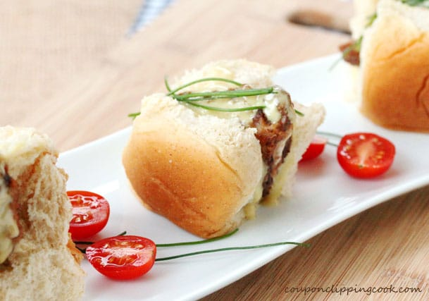 Chipotle Chicken Nugget Sliders on plate