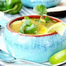 Green Chili and Cilantro Tortilla Soup