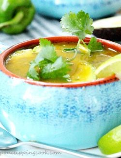 Green Chili and Cilantro Tortilla Soup