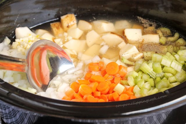 Stir Potato and Sausage Soup in Crockpot
