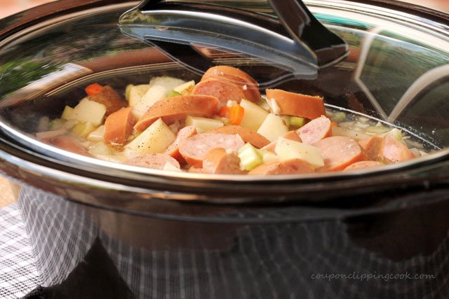 Potato and Sausage Soup in Crockpot