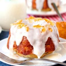 Pineapple Banana Mini Bundt Cakes