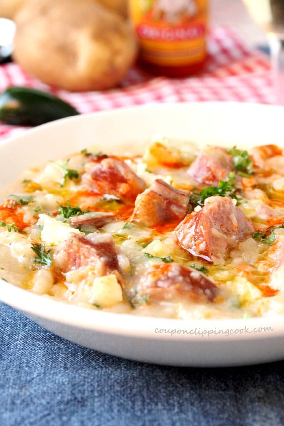 Cheese Potato and Smoked Sausage Soup