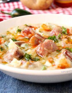 Potato Soup with Smoked Sausage
