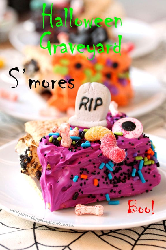 Halloween Graveyard S'mores on plate