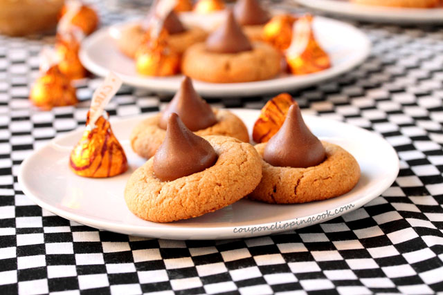 Peanut Butter Blossom Cookies on plate