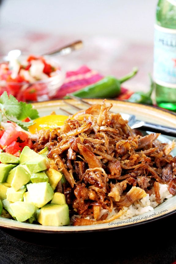 Crispy Pork Carnitas on plate