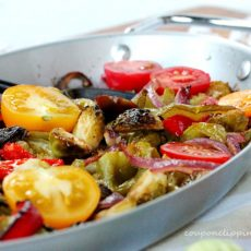 Fajita Brussels Sprouts in Pan