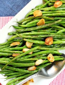 Garlic Wasabi Green Beans