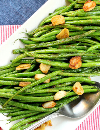 Garlic, Wasabi and Sage Green Beans
