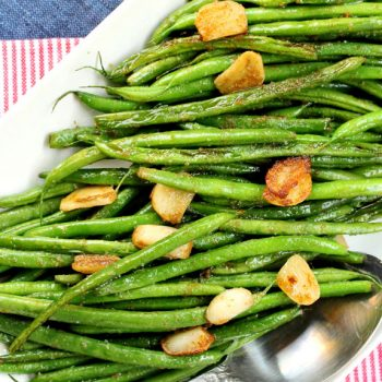 Garlic Wasabi Green Beans