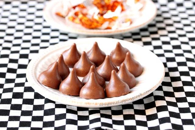 Hersheys Caramel Kisses on plate