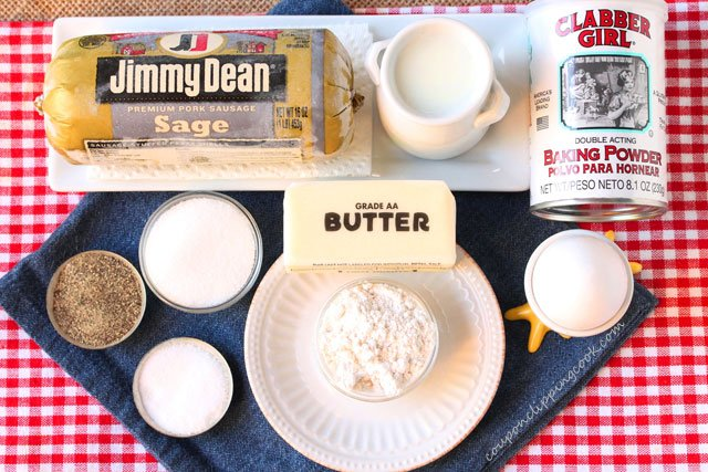 Skillet Biscuits and Sage Sausage Gravy ingredients