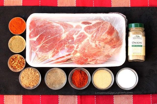 Slow Cooker Pork Carnitas ingredients
