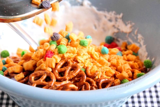 Add cereal to bowl with marshmallow
