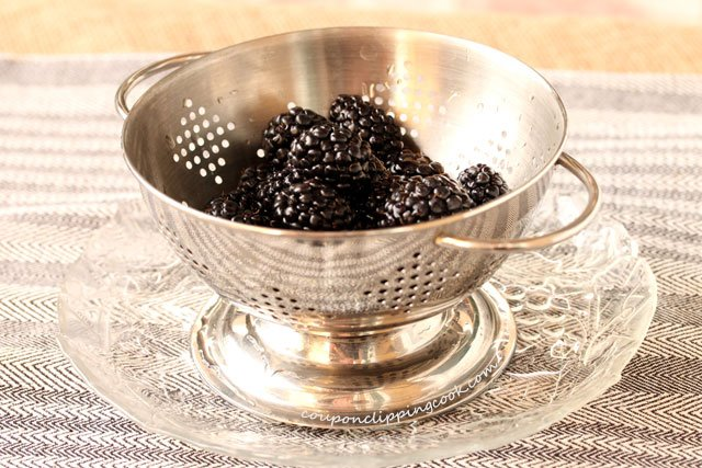 Fresh Blackberries in Colander
