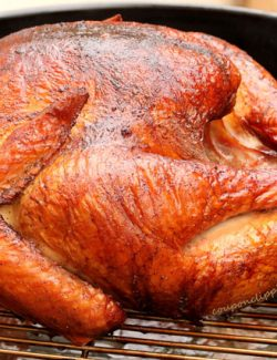 Turkey on Barbecue Grill