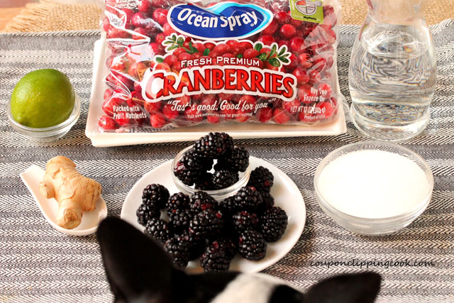 Whole Blackberry Cranberry Sauce ingredients