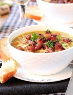 Slow Cooker Split Pea Ham Soup