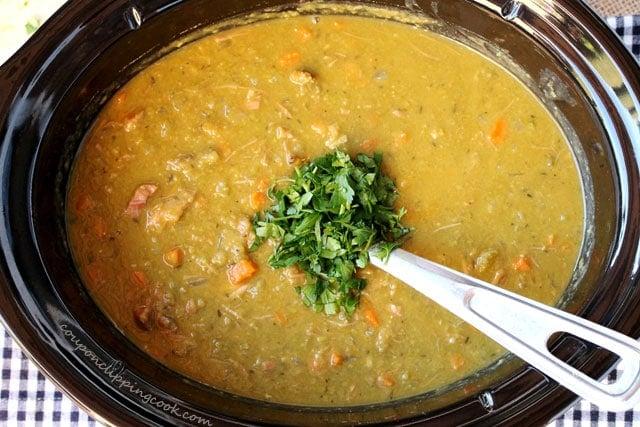 Parsley in Slow Cooker Split Pea Soup