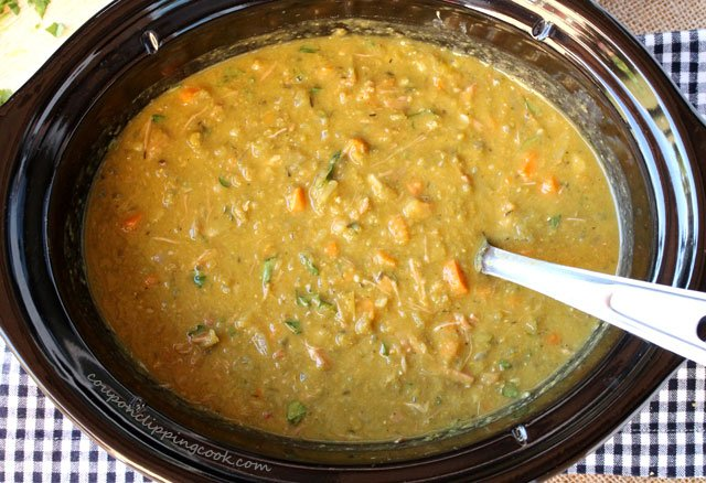 Split Pea Soup with Ham in Slow Cooker