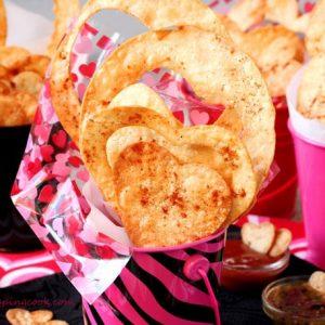 Valentine Heart Shaped Tortilla Chips