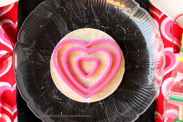 Cut Heart Shaped Tortillas