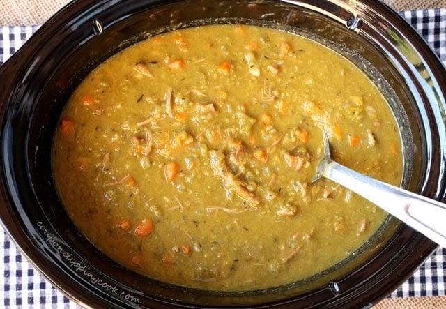 Split Pea Soup in Slow Cooker Pot