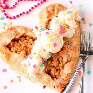 Heart Shaped Apple Pie Galette