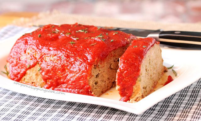 Slow Cooker Meat Loaf on plate