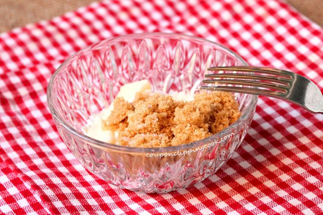 Brown sugar and butter in bowl